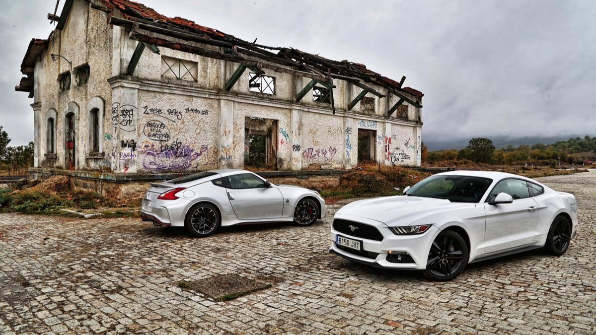 Comparativa Ford Mustang/Nissan 370Z estática