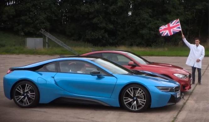 Drag Race 'a la alemana': BMW M4 vs BMW i8