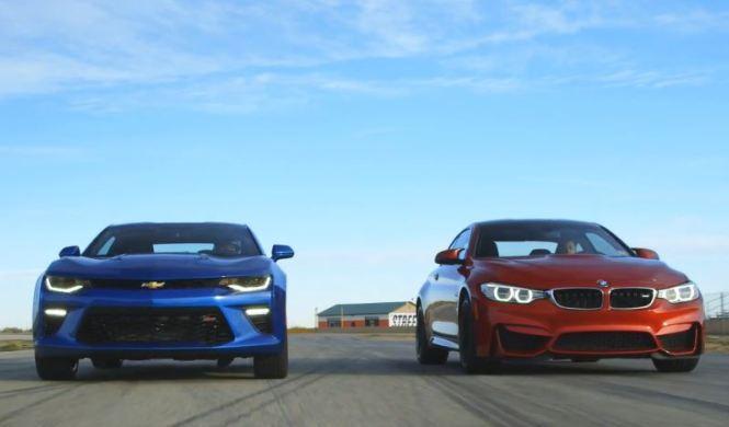 Vídeo: el Camaro SS y el BMW M4 se ven las caras