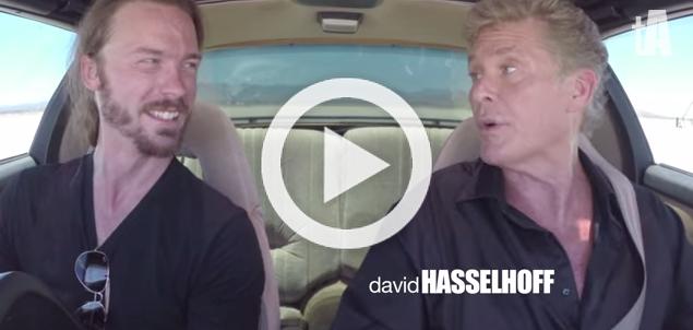 'Aficionauto' comparte volante de KITT con David Hasselhoff