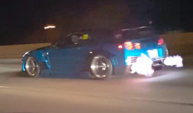 Vídeo: un Nissan GT-R arrasa en una carrera ilegal