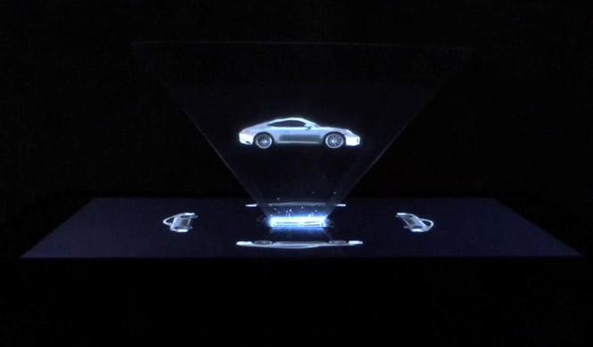 El primer holograma de Porsche