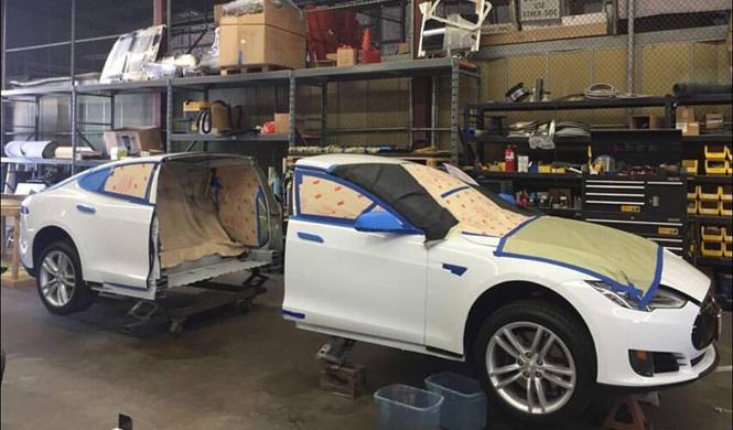 El primer Tesla Model S del mundo convertido en limusina