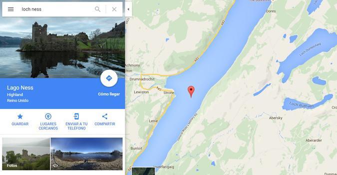 Google Maps: ¿qué pasa si buscas al monstruo del Lago Ness?