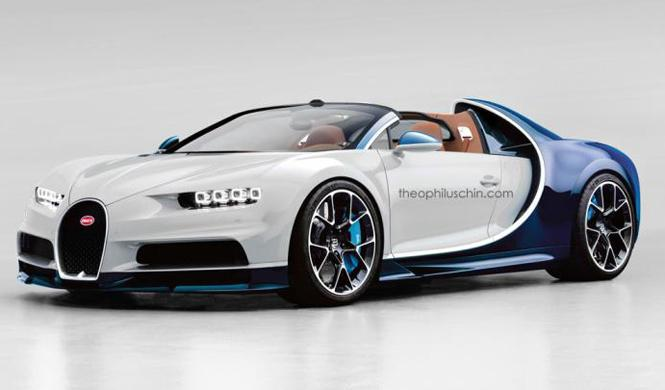 Así podría ser el Bugatti Chiron Grand Sport