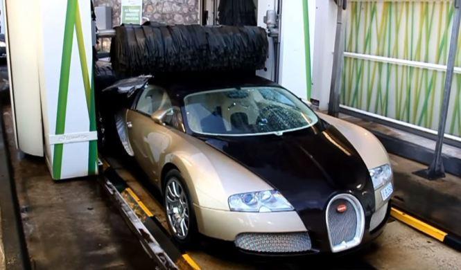 ¿Meterías un Bugatti Veyron en un túnel de lavado?