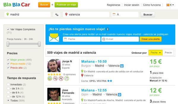 BlaBlaCar: así funciona esta app para compartir coche