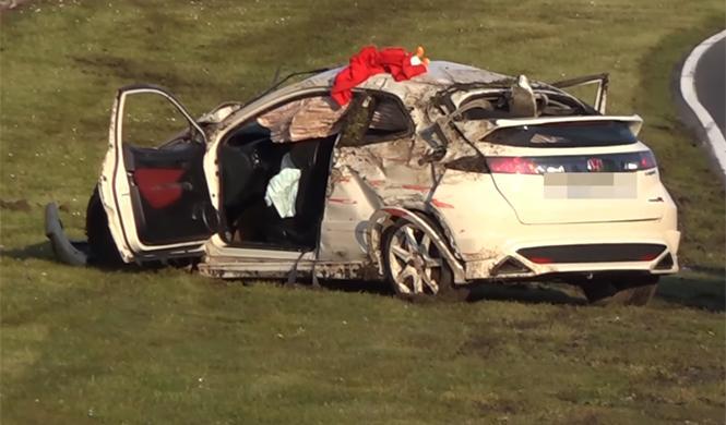 Vídeo: colosal accidente de un Civic Type R en Nürburgring