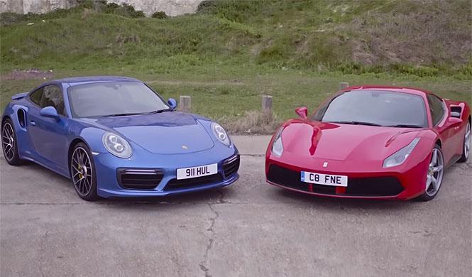 Ferrari 488 GTB vs. Porsche 911 Turbo S: ¡viva el turbo!