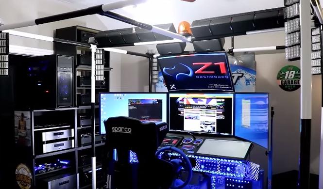 Un 'youtuber' crea su propio simulador de carreras