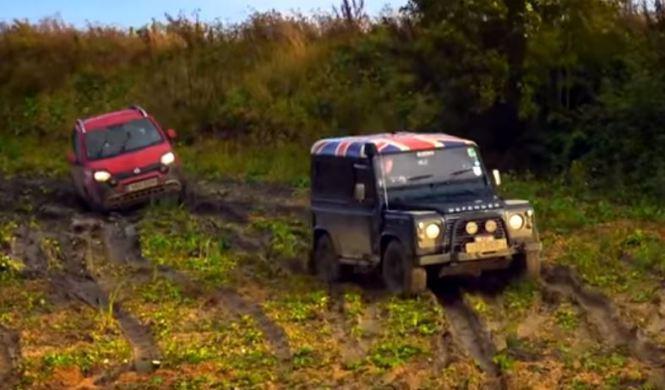 Vídeo: ¿puede el Fiat Panda Cross con el Defender?