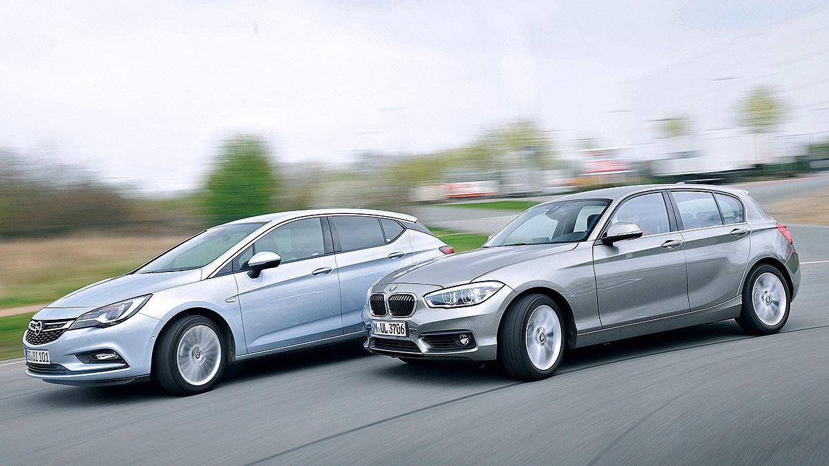 Cara a cara: Opel Astra vs BMW Serie 1