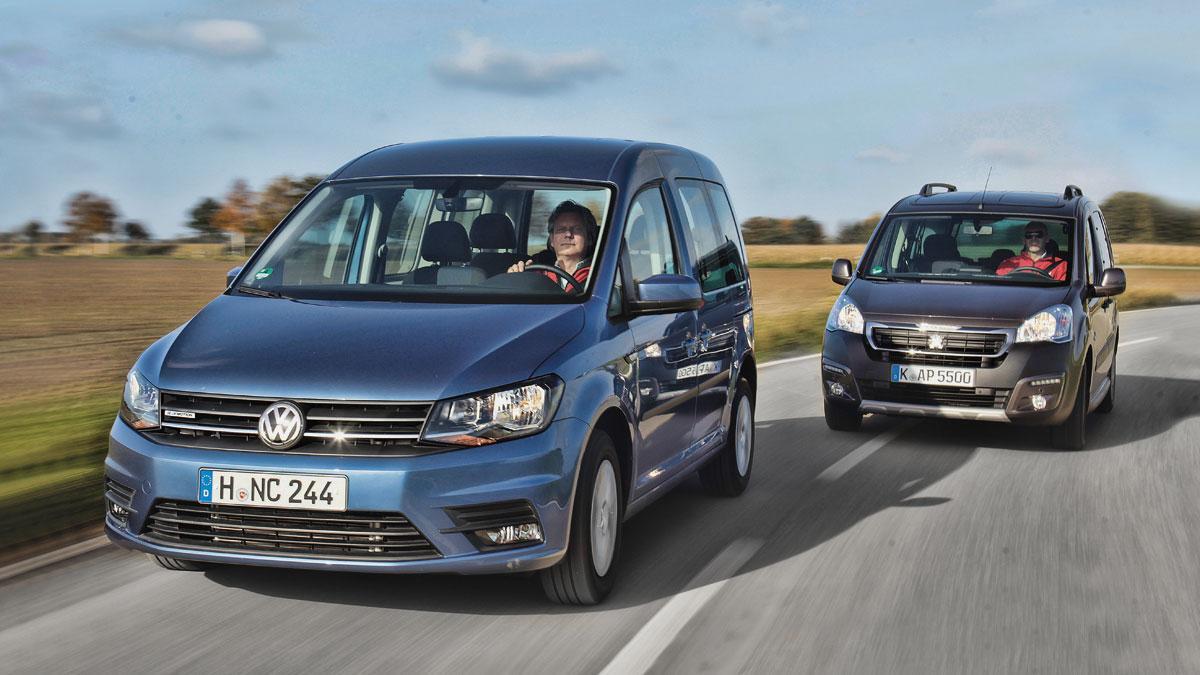 Comparativa Volkswagen Caddy Peugeot Partner