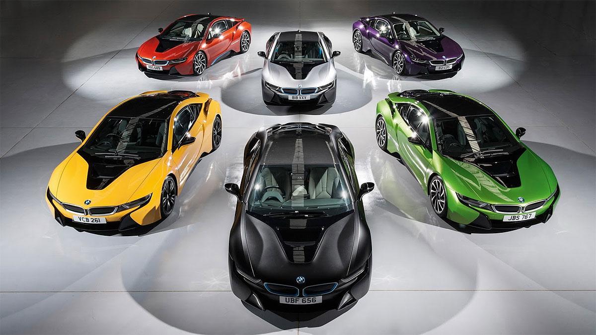 Los BMW i8 'más pintones', sólo para Reino Unido