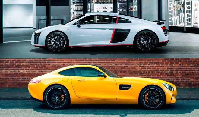 ¿Cuál es mejor, Audi R8 2016 o Mercedes AMG GT?