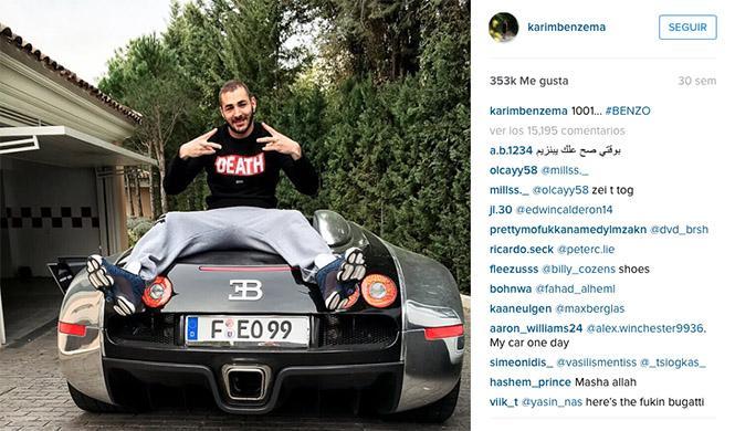 Karim Benzema Bugatti Veyron Instagram