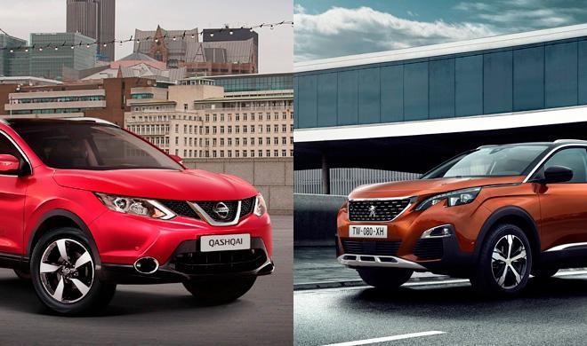 ¿Cuál es mejor, Peugeot 3008 2016 o Nissan Qashqai?