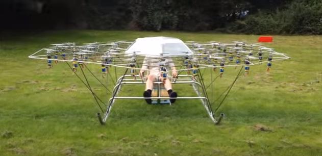 VÍDEO: fabrica un dron tan grande, que se va con él