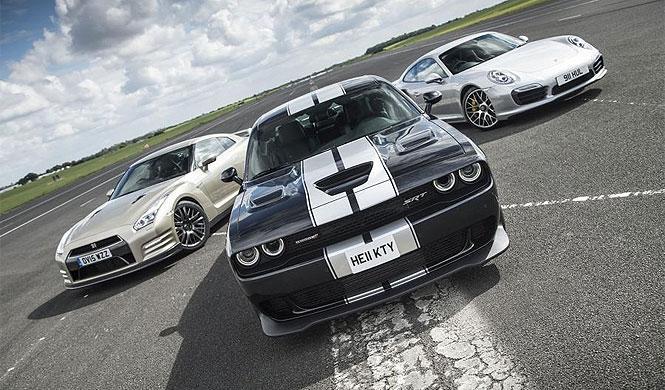Dodge Challenger Hellcat contra los reyes de la velocidad