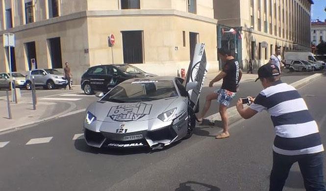 Vídeo: enloquece al rozar su Aventador