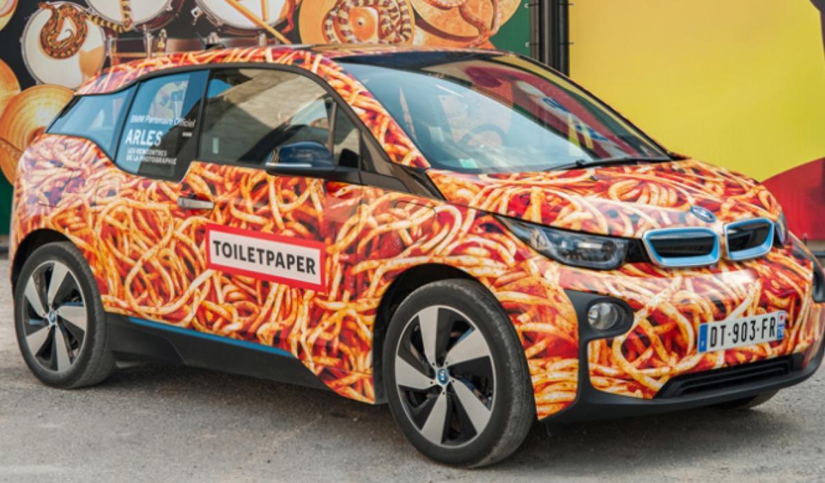 Mira este BMW i3: ¿arte urbano o atrocidad sobre ruedas?