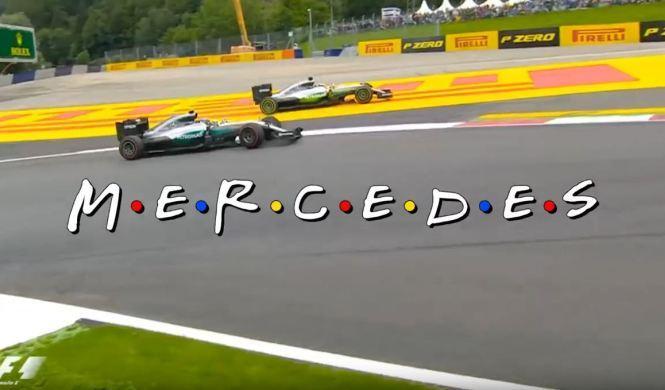 Vídeo: Hamilton y Rosberg parodian a 'Friends'