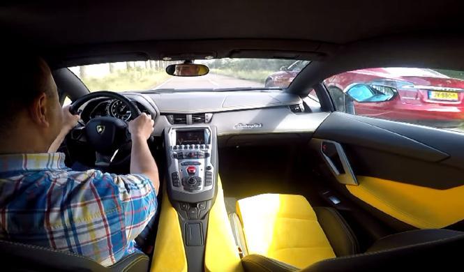 Vídeo 360º: Lamborghini Aventador 'vs' Tesla Model S