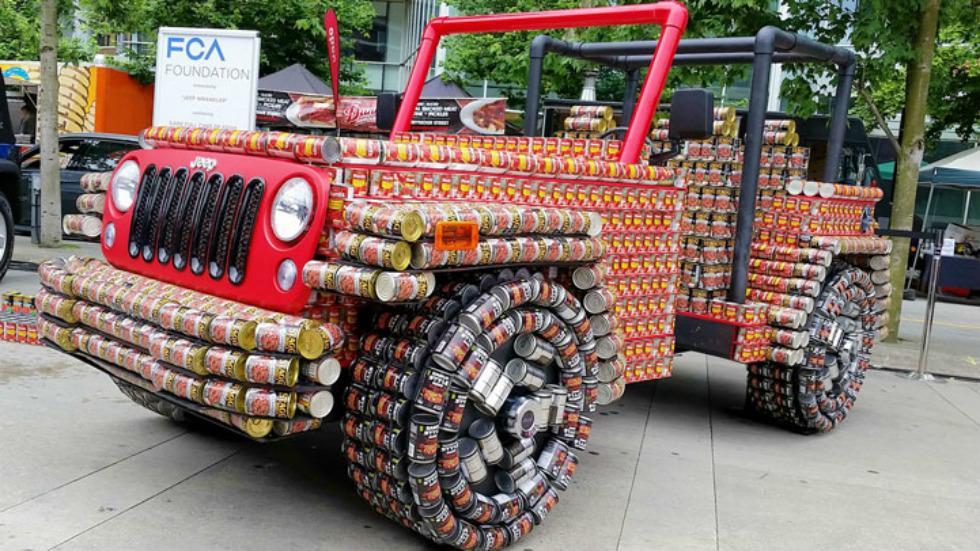 Jeep Latas de comida