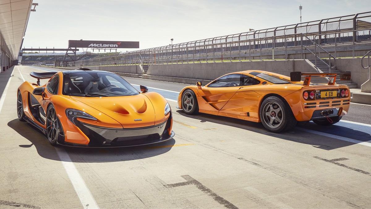 McLaren F1 GTR y McLaren P1 XP 05