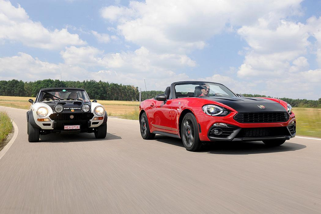 Ayer vs hoy: Abarth 124 Spider vs Abarth 124 Rally Sport