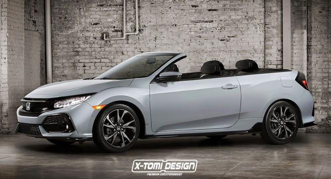 Si llegara, este sería el aspecto del Honda Civic Cabrio