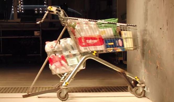 Vídeo: test de choque con un carrito de la compra