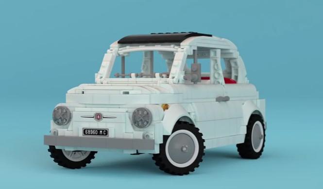 ¡Qué monada! Mira este Fiat 500 de Lego