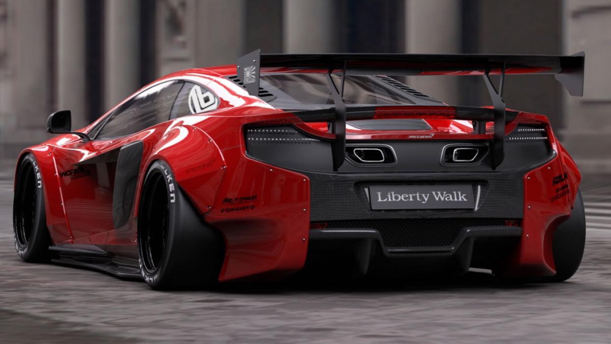McLaren 650S Liberty Walk trasera