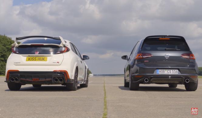 Drag Race: Honda Civic Type R 'vs' VW Golf GTI Clubsport S