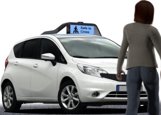 El coche autónomo que interactúa con emojis es de Drive.ai
