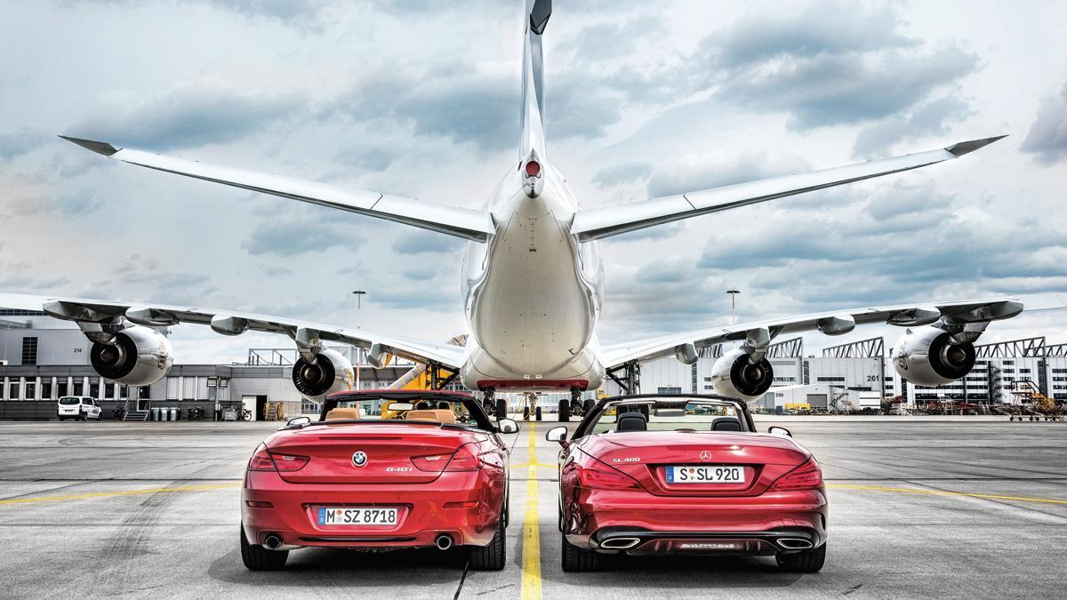 Menuda Prueba Mercedes Sl Y Bmw 640i Con Un Airbus A380 Autobild Es