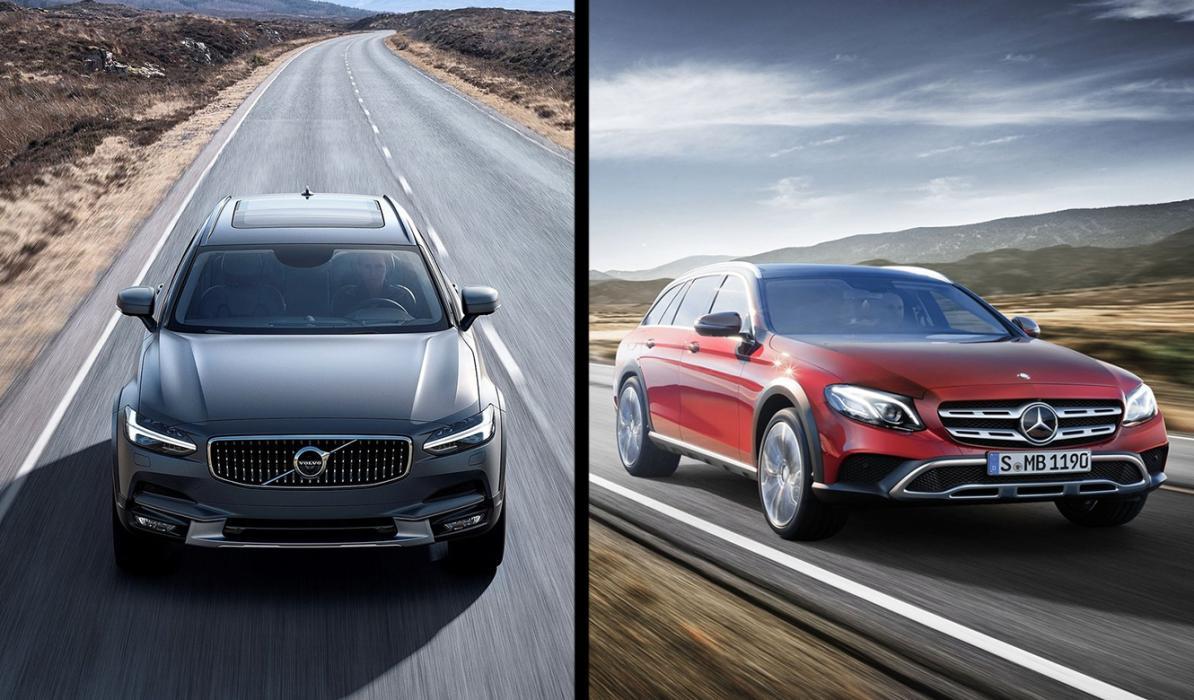 ¿Cuál es mejor, Volvo V90 CC o Mercedes E All Terrain?