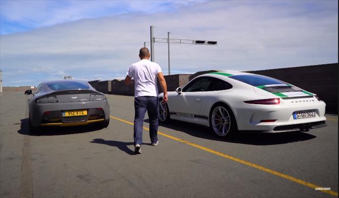 Vídeo: Chris Harris enfrenta al 911 R y al V12 Vantage S