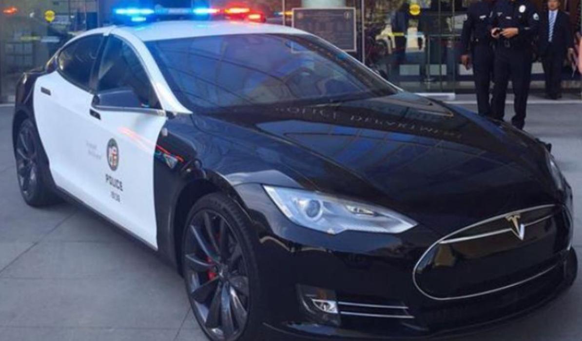 Tesla Model S, coche de policía de Los Ángeles