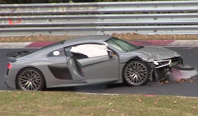 Vídeo: un Audi R8 V10 plus se estrella en Nürburgring
