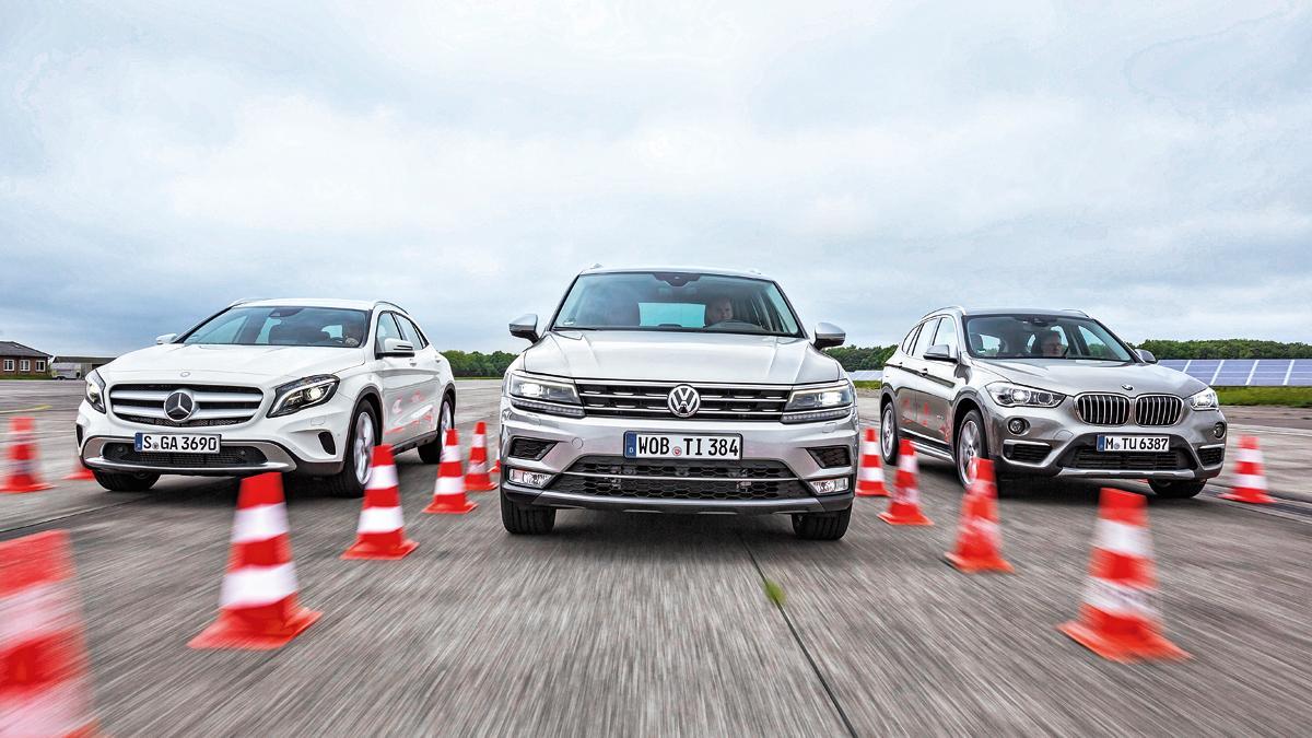 VW Tiguan, Mercedes GLA, BMW X1