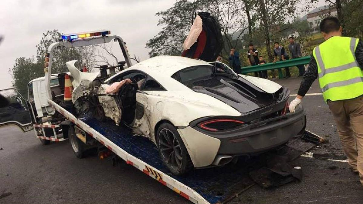 Accidente McLaren 570S China
