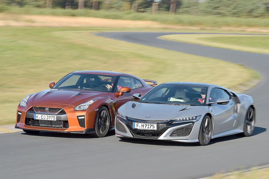 Duelo de Godzillas: Honda NS-X vs Nissan GT-R
