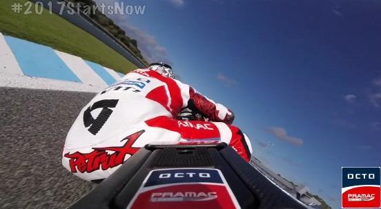 Siente el poder de la Ducati GP17 con Danilo Petrucci