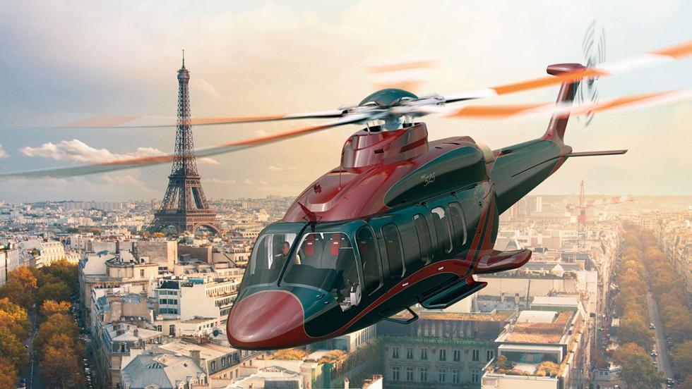 El helicóptero Bell 525 Relentless, con capacidad para llevar hasta a 16 pasajer