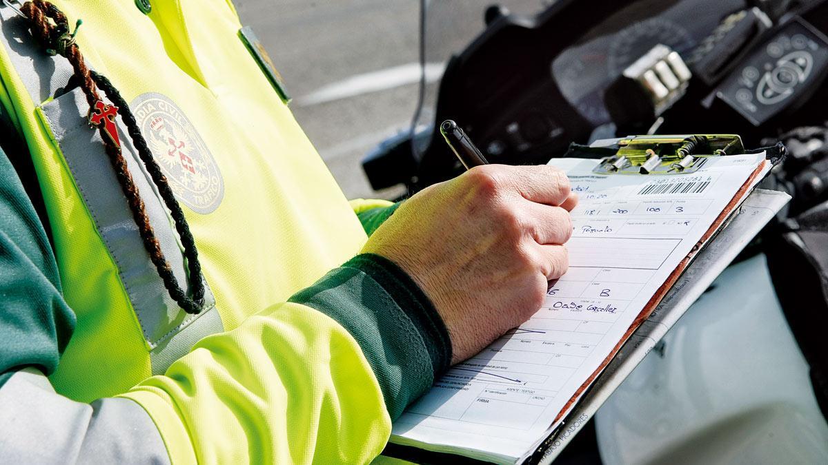 La prueba de que la Guardia Civil cada vez pone más multas