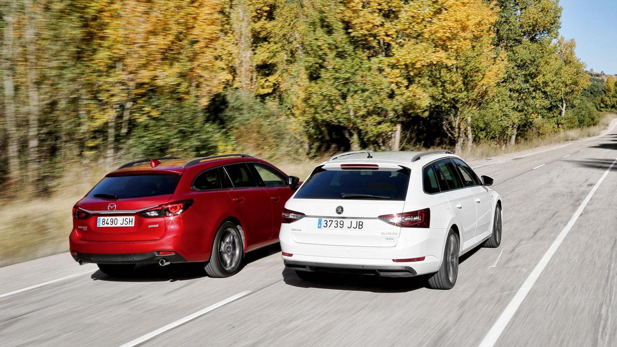Comparativa Mazda 6 Wagon Skoda Superb Combi