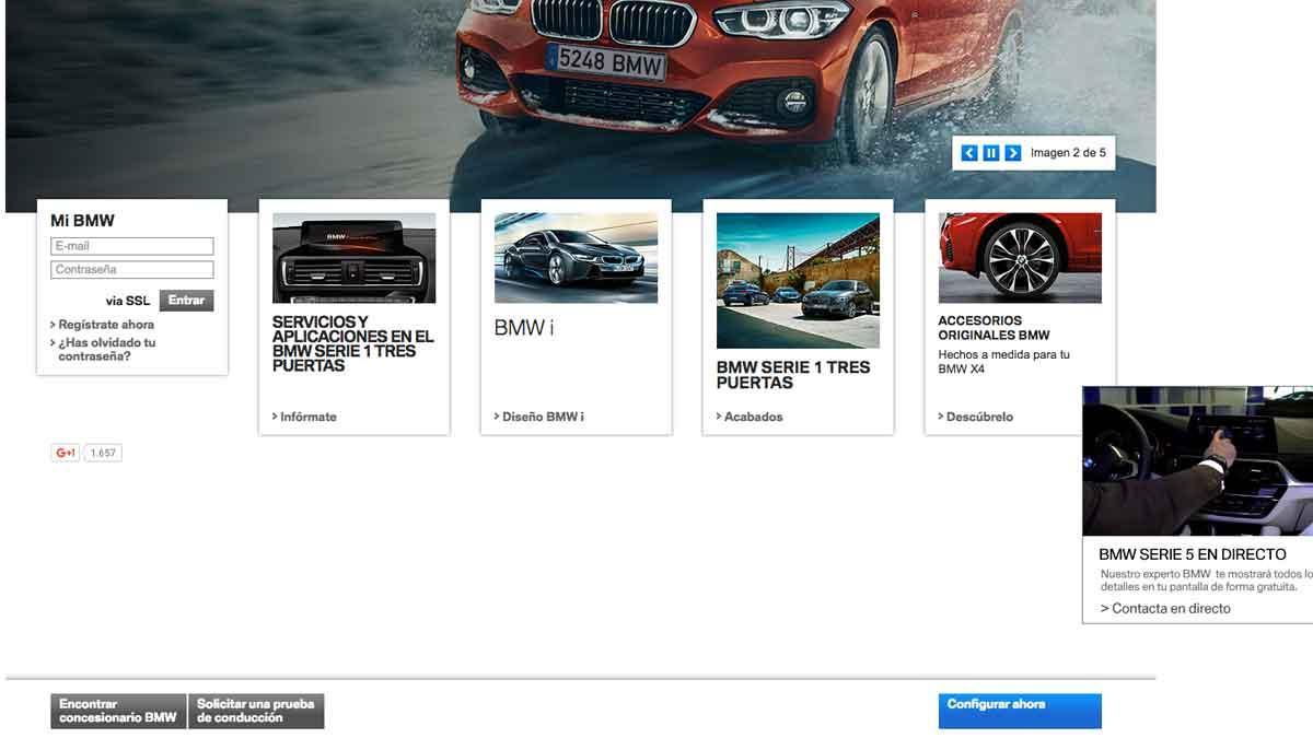 Para configurar tu BMW, ve a la web www.bmw.es.