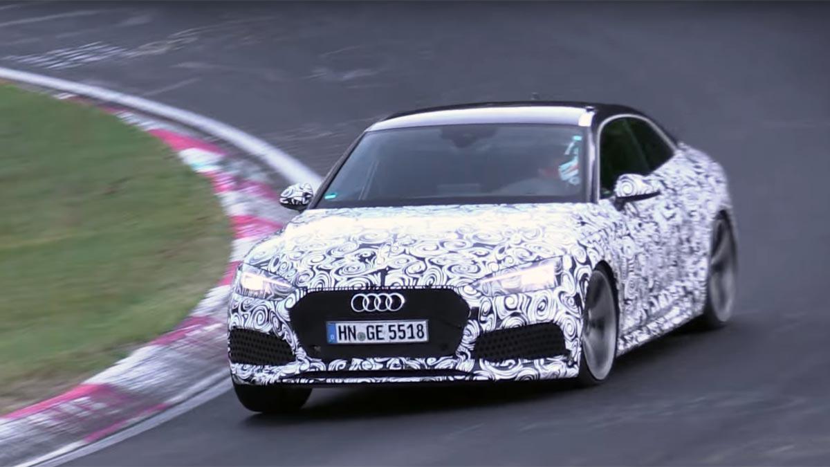 Audi RS5 2017: ¡así suena y se mueve en Nürburgring!